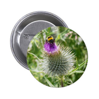 The Bee and the Thistle Button