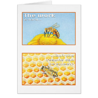 The Bee Greeting Card Psalm 29:11
