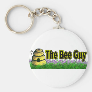 the bee guy basic round button keychain