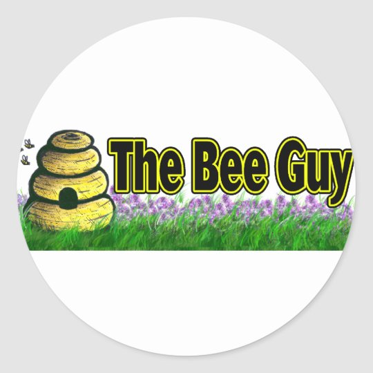 the bee guy classic round sticker