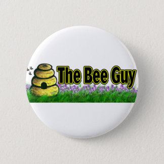 the bee guy pinback button