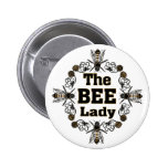 the bee lady button