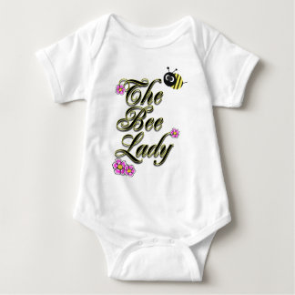 the bee lady large print baby bodysuit
