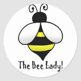 The Bee Lady Classic Round Sticker