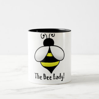 The Bee Lady Two-Tone Coffee Mug