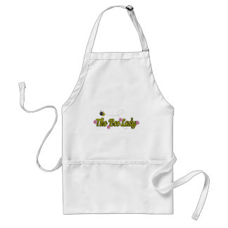 the bee lady with flowers adult apron
