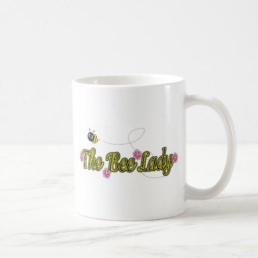 the bee lady with flowers coffee mug
