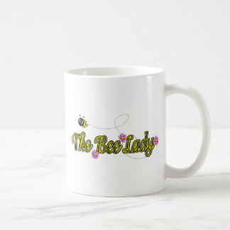 the bee lady with flowers coffee mug