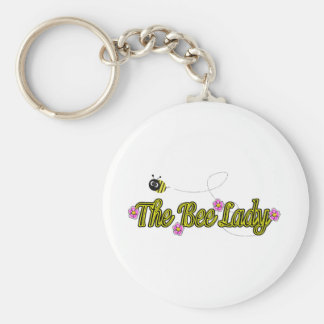 the bee lady with flowers keychain