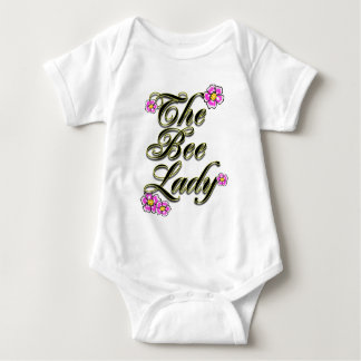 the bee lady  with flowers tee shirt