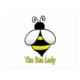 The Bee Lady yellow Postcard