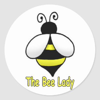 The Bee Lady yellow Classic Round Sticker