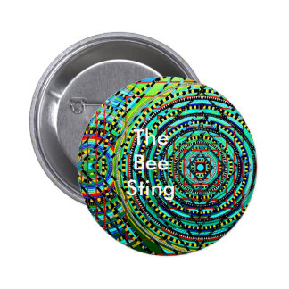 The Bee Sting Pinback Buttons