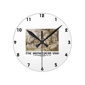 The Beekeepers (1568) Pieter Bruegel The Elder Round Clock