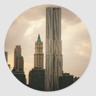 The Beekman Tower and Woolworth Building Classic Round Sticker