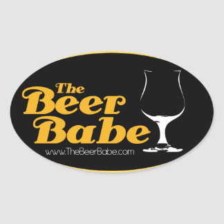 The Beer Babe Oval Sticker