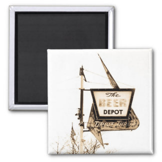 The Beer Depot 2 Inch Square Magnet