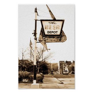 The Beer Depot of Ann Arbor Michigan Poster