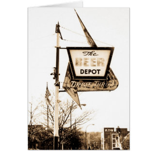 The Beer Depot - Vintage Ann Arbor, Michigan Card