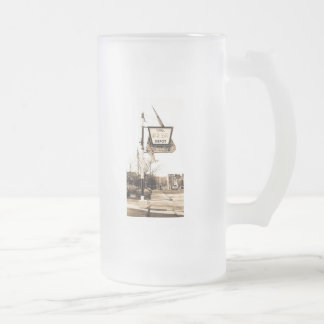 The Beer Depot - Vintage Ann Arbor, Michigan Frosted Glass Beer Mug