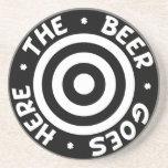 The Beer Goes Here Coaster in Black