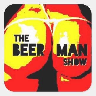 The Beer Man Show Butt Sticker
