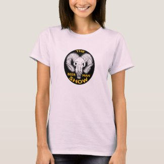THE BEER MAN SHOW Ladies Goat Skull shirt