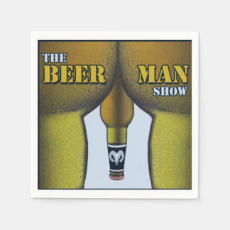 THE BEER MAN SHOW Manhood Cocktail Napkins (50)
