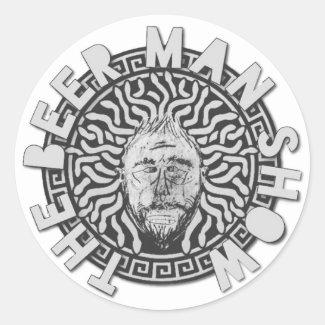 The Beer Man Show Round Sticker