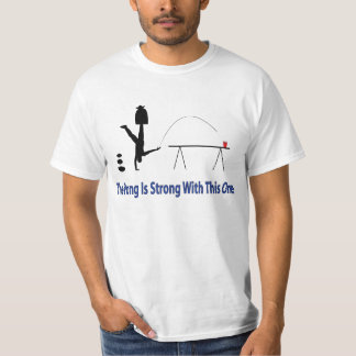 The Beer Pong Is Strong Shirt in blue text below