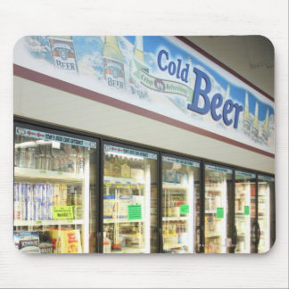 The beer section of an Iowa grocery store. 2 Mouse Pad