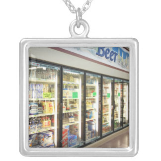 The beer section of an Iowa grocery store. 2 Silver Plated Necklace