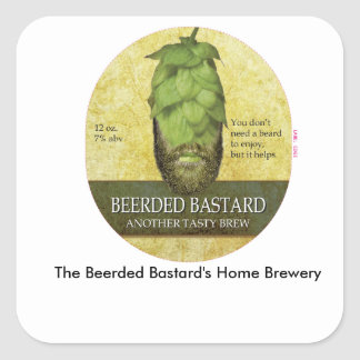 The Beerded Bastard's Home Brewery sticker sheet