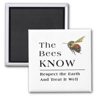 The Bees Know 2 Inch Square Magnet