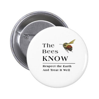 The Bees Know 2 Inch Round Button