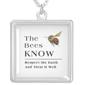 The Bees know Silver Plated Necklace