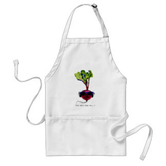 The beet goes on-light adult apron
