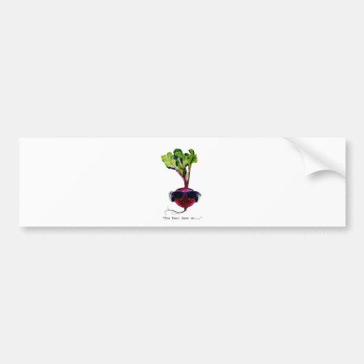 The beet goes on-light bumper sticker