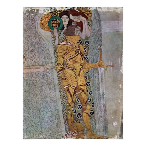 The Beethoven Freize by Gustav Klimt Poster