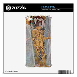 The Beethoven Freize by Gustav Klimt iPhone 4S Decals