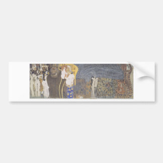 The Beethoven Frieze: The Hostile Powers. Far Wall Bumper Sticker