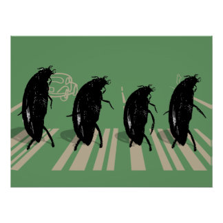 The Beetles on Abbey Road Poster