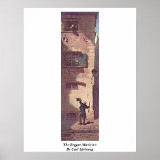 The Beggar Musician By Carl Spitzweg Poster