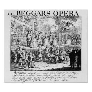 The Beggar s Opera Burlesqued 1728 Posters
