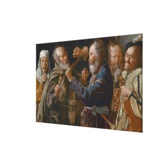 The Beggars' Brawl, c.1625-30 (oil on canvas) Canvas Print