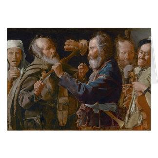 The Beggars' Brawl, c.1625-30 (oil on canvas) Card