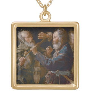 The Beggars' Brawl, c.1625-30 (oil on canvas) Personalized Necklace
