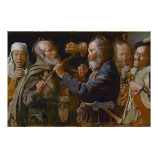 The Beggars' Brawl, c.1625-30 (oil on canvas) Poster