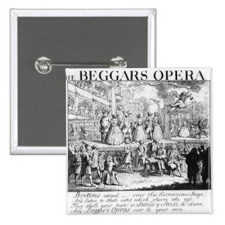 The Beggar's Opera Burlesqued, 1728 Button