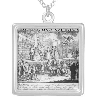 The Beggar's Opera Burlesqued, 1728 Silver Plated Necklace